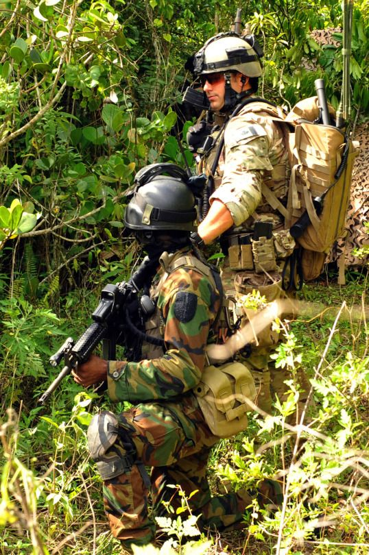 Special Operations Forces from Canada train members of the Jamaican military