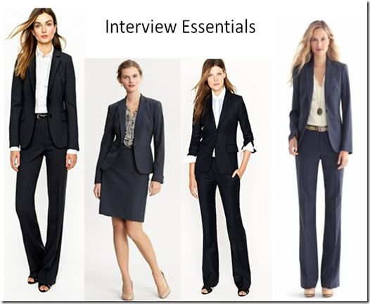 what to wear to an interview for women