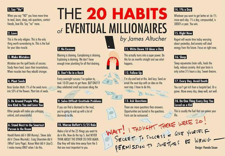 The 20 Habits of Eventual Millionaires – The Mission – Medium