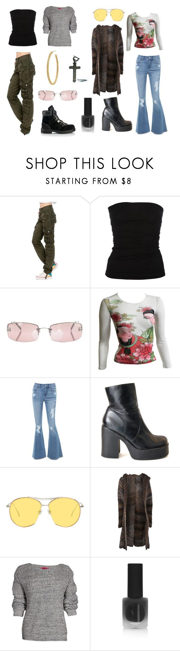 """Early 2000's - day vs night"" by the-trickster-king ❤ liked on Polyvore featuring Plein Sud, Jimmy Choo, Chanel, Kenzo, Bebe, Gentle Monster, dominic louis, Boohoo and Topshop"