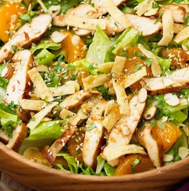 Asian Sesame Chicken Salad | 12 Easy Asian Recipes To Try At Least Once, check it out at http://homemaderecipes.com/easy-asian-recipes/