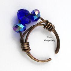 Adjustable Wire-Wrap Bead Ring - Tutorial by Rena Klingenberg