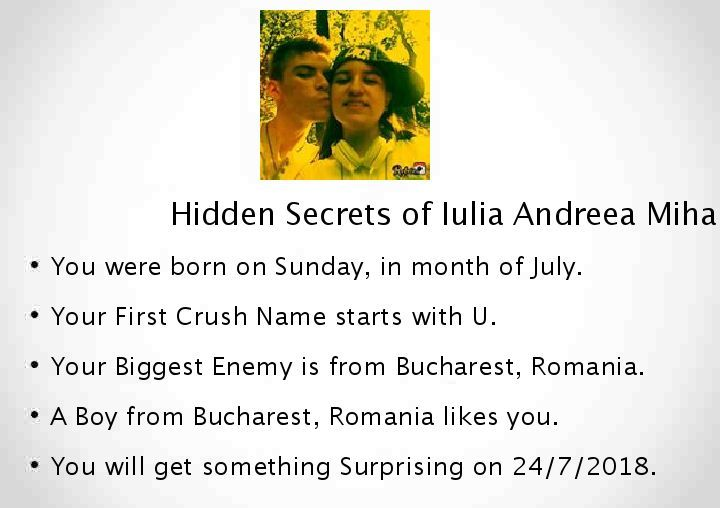 Check my results of Find your Hidden Secrets of Life Facebook Fun App by clicking Visit Site button