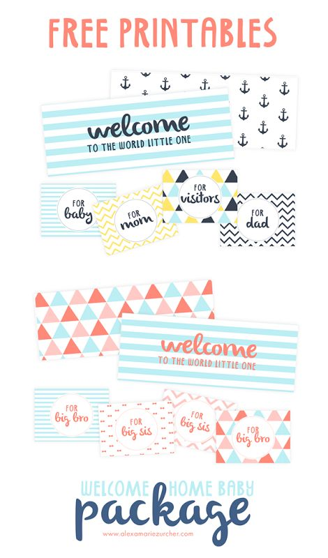 Welcome Home Baby Package With Free Printables Baby Presentsbaby