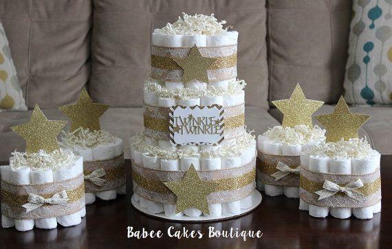 3 tier Twinkle Twinkle gâteau de couches peu par BabeeCakesBoutique