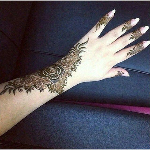 Henna design, Arabic.