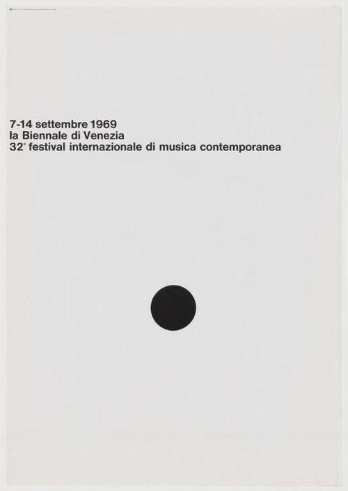 A. G. Fronzoni. La Biennale di Venezia. 1969