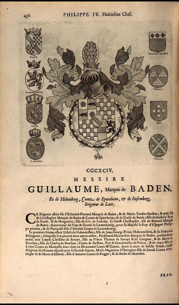 401. 1639; William, Margrave of Baden-Baden (1593-1677).