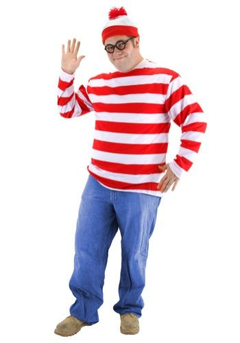 Pop up in the strangest places when you wear this Where's Waldo Costume!
