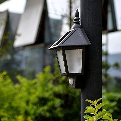 Outdoor Solar LED Light Motion Sensor Vintage Wall Fence Path Patio Lamp Decor #PathLight