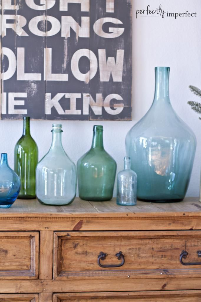 Vintage Style-Decorating With Demijohns