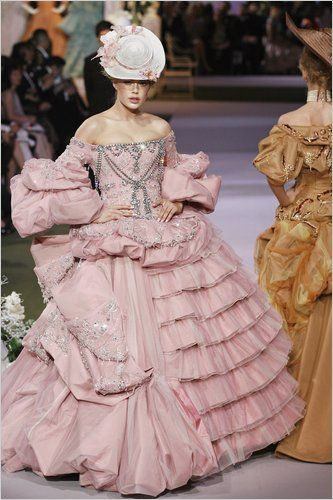 Dior rococo inspired pink gown