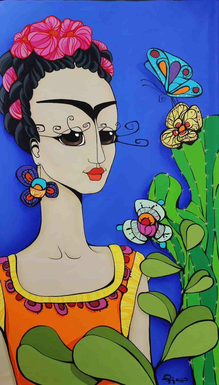 """""""Frida""""  60x110cm Acrílico sobre tela de Mora Fiaño  www.moracuadros.com.ar"""