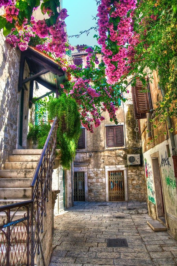 Old Town in Split,Croatia. Check out the 10 most beautiful towns in Croatia at TheCultureTrip.com. Click on the image to read about them.(http://www.guidora.com/) http://fancytemplestore.com