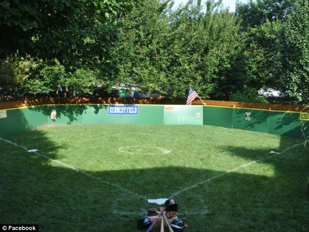 A Delaware family built its very own baseball field in their backyard to…