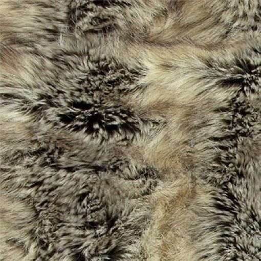 Fake fox fur light grey/dark brown - Stoff & Stil