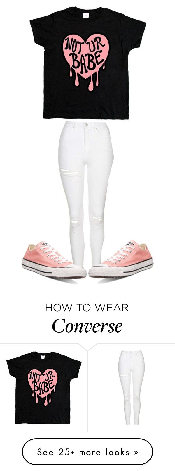 """"""""""" by sydthekyd01 on Polyvore featuring Topshop and Converse"""