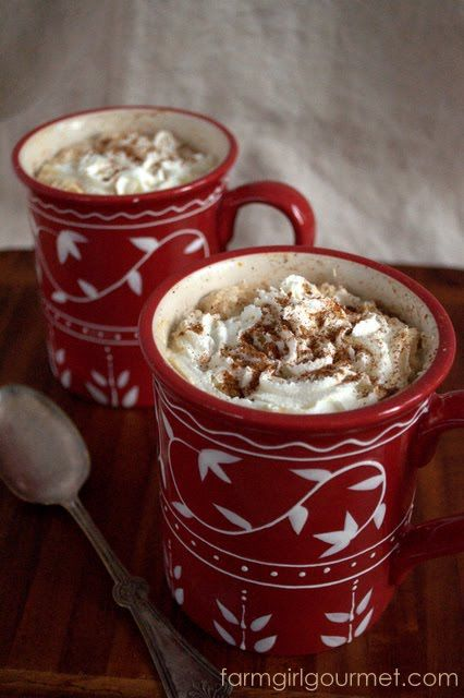 Easy Pumpkin Spice Latte - make it at home and stop paying 5 bucks!Farmgirl Gourmet, Pumpkin Spice Latte, Hot Chocolate, Pumpkin Latte, Latte Recipe, Drinks, Pumpkin Spices Latte, Pumpkin Pies, Easy Pumpkin