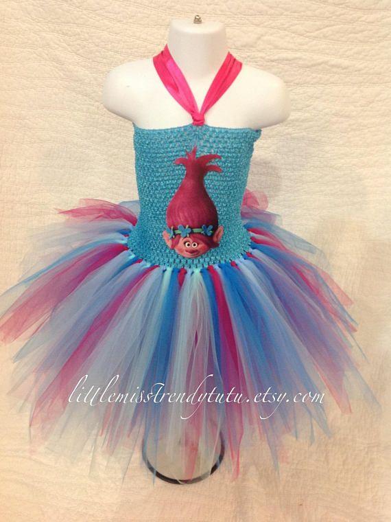 6c5636d790484 Trolls Costume, Poppy Tutu Dress, Poppy Troll #clothing #children #girl @