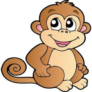Cute Cartoon Monkeys | Monkeys Cartoon Clip Art