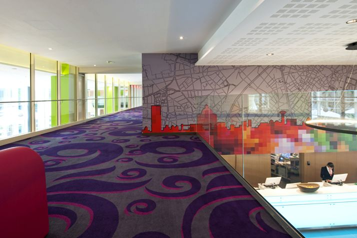 Second floor overlooking the lobby and reception area. Interior architecture | Ramsoskar