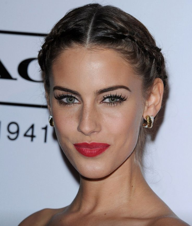 Jessica Lownedes with two French braids.