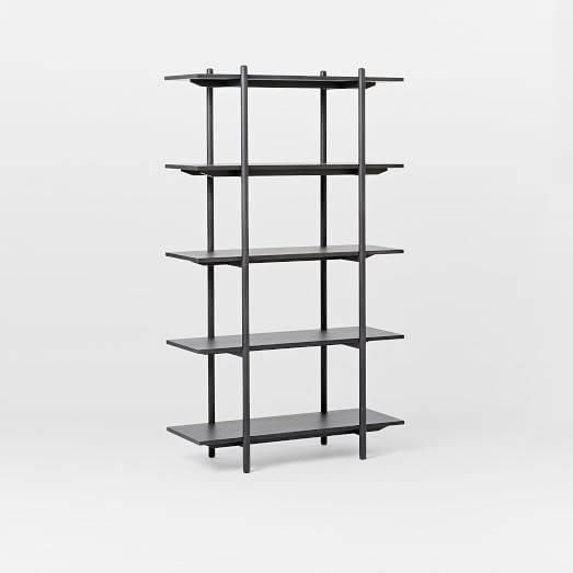 Our Scaffold Bookshelfu0027s Pared Turnings And Lofty Frame Were Inspired By  American Shaker And Swedish Modern Design. Its Wide Shelves Display  Anything From ...