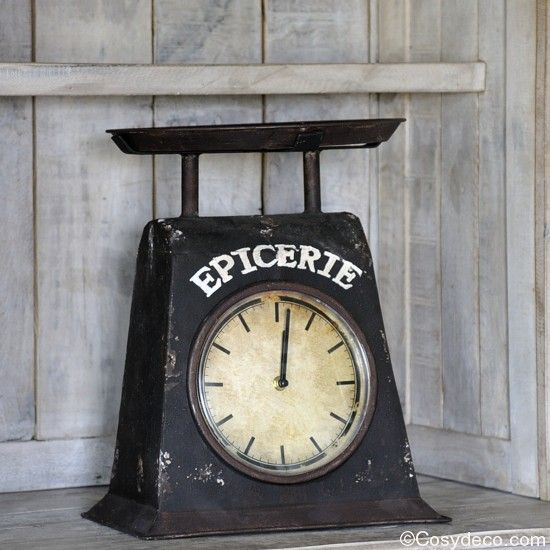 horloge balance style vintage poser horloge cuisine decoration retro. Black Bedroom Furniture Sets. Home Design Ideas