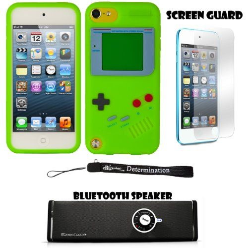Game Silicone Durable Skin For Apple iPod Touch 5 ( 5th Generation) 32GB, 64GB + Screen Protector + Bluetooth Speaker Perfectly Designed to fit your iPod Touch 5. Access to all iPod features such as volume, sleep mode, ect.. Includes Screen protector protects from scratch, dust and fingerprints. Includes a Supertooth Disco Bluetooth Speaker with AUX Cable. Includes an eBigValue (TM) Determination ... #EBigValue #Wireless