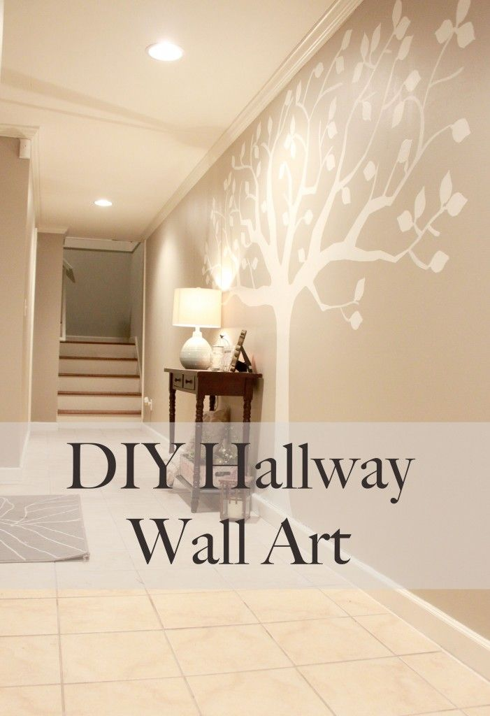 Perfect solution for a long hallway! $10 DIY wall art.