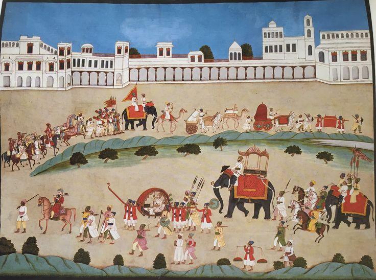 Murshidabad Artist - Procession of a Ruler c.1770