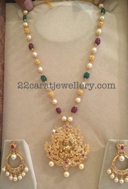 Beads Set Detachable Locket Chandbalis