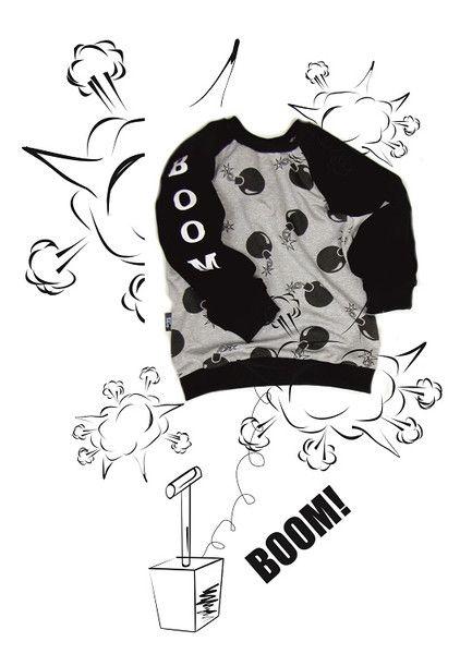 Big Boom Black! Bluza dziecięca w dribs and drabs na DaWanda.com