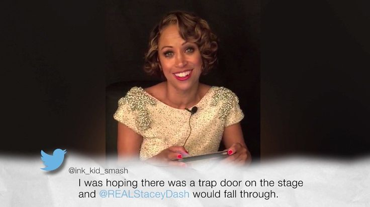 Stacey Dash's surprise appearance at the Oscars still has us scratching our heads. In another cringeworthy move, Stacey took to her website to share a video of herself reading mean tweets fro…