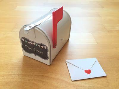 Materialwiese: Kleine Mailbox für die Lehrerpost