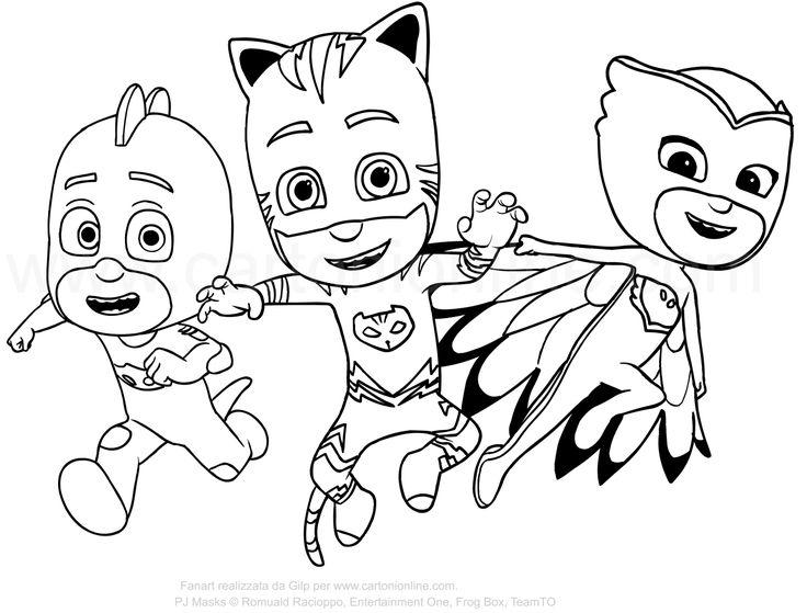 disegni da colorare pj mask Disegno dei PJ Masks