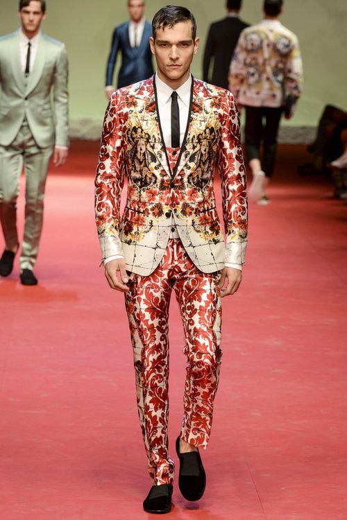 Alexandre Cunha walks for Dolce & Gabbana spring/summer 2015