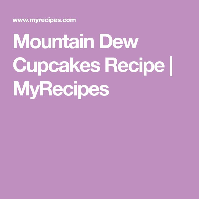 Mountain Dew Cupcakes Recipe | MyRecipes