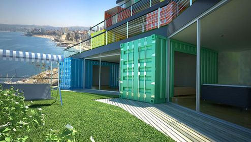 Edifico Viviendas Chile by Infiniski | #OrganicSpaMagazine: Container Architecture, Containers Homes, Container Houses, Edifico Viviendas, Amazing Homes, Viviendas Chile, Shipping Container Homes, Shipping Containers