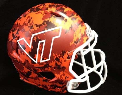 Virginia Tech Football Uniforms 2013 | Virginia Tech will wear camouflage helmets for Military Appreciation ...