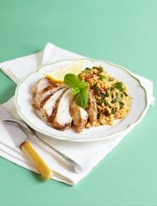 Low-cal lemony chicken with vegetable couscous (238 cals)