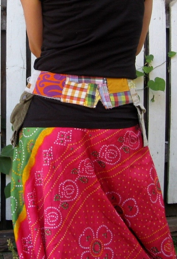 Eco Friendly OOAK Pocket Belt by wenderellawear on Etsy