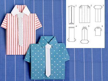 Folding Paper Shirt