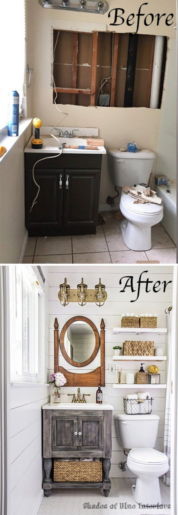 1000 ideas about bathroom before after on pinterest for Before and after bathroom makeovers