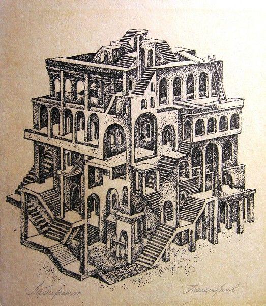 Foldaway Tote - Sketched Escher by VIDA VIDA UddVC5Dgn