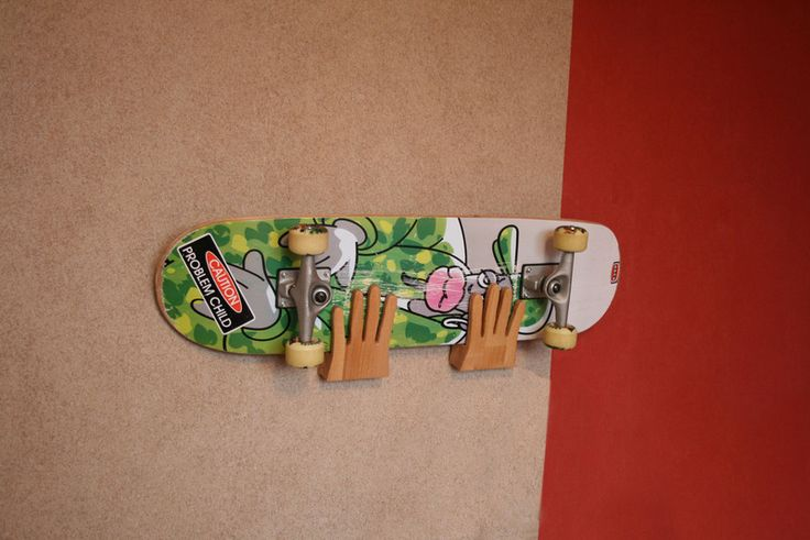 Skateboard Longboard Wall Mount Quot Hands Quot Wood Wall Mount