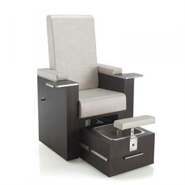 The REM Natura PediSpa Chair is a dual purpose chair for manicure or pedicure treatments. It has a reclining back and adjustable footrest. The removable stainless steel basin means that no plumbing is required. The armrests incorporate a working surface for manicures and removable finger bowls.Upholstery: Available in any REM colour of upholstery for seat, arms and footrest, and any REM laminate to sides. (Please note there is a £45 supplement charge when ordering Leopard or Zebra…