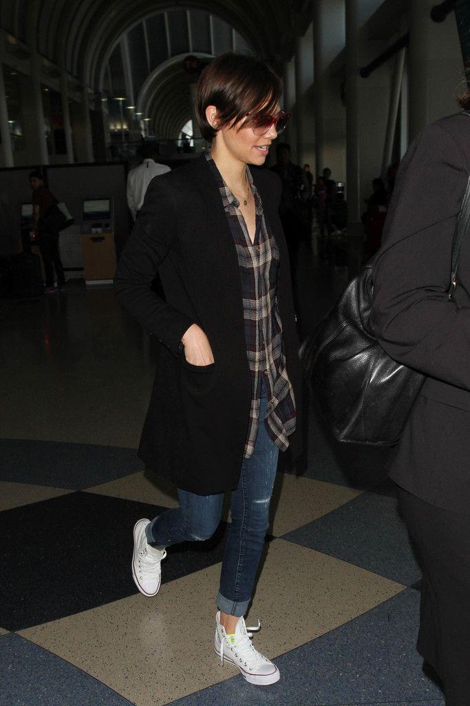 Lauren Cohan is seen at LAX