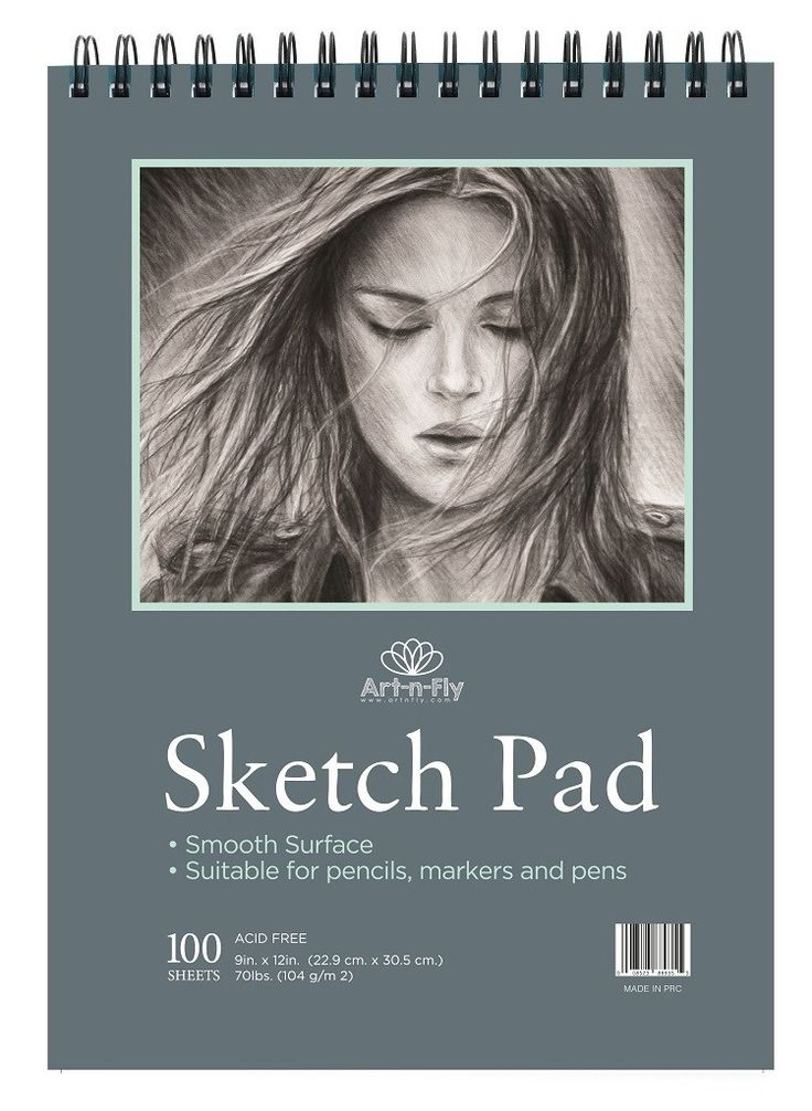 100 Sheets 9 x 12 Inch sketch pad - Smooth surface