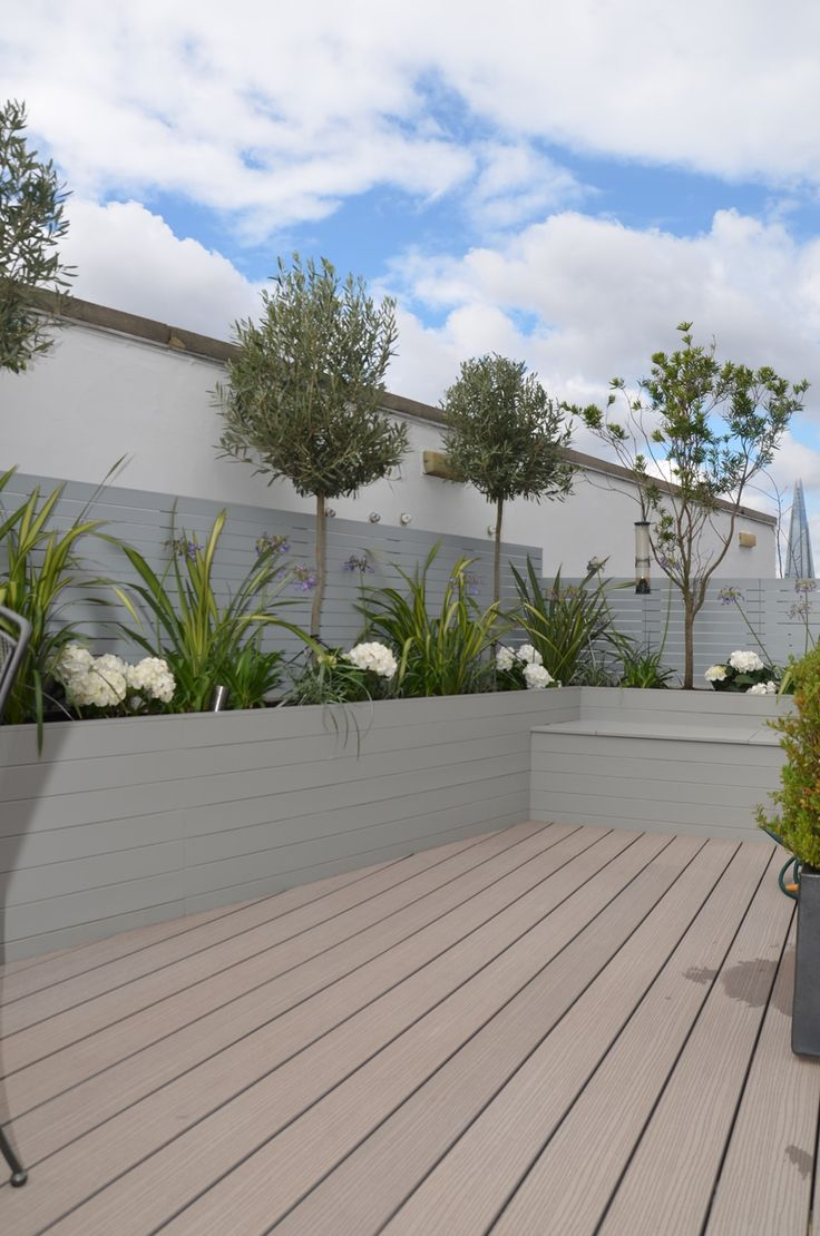 tower bridge modern garden design roof penthouse terrace docklands kitchen anewgarden london